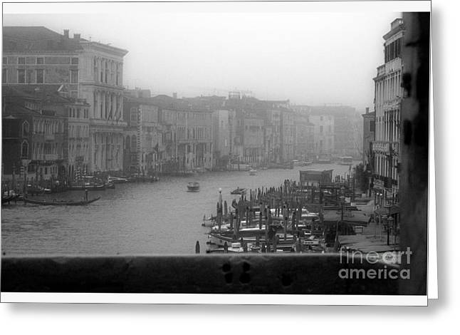 Grand Canal On A Foggy Morning Greeting Card