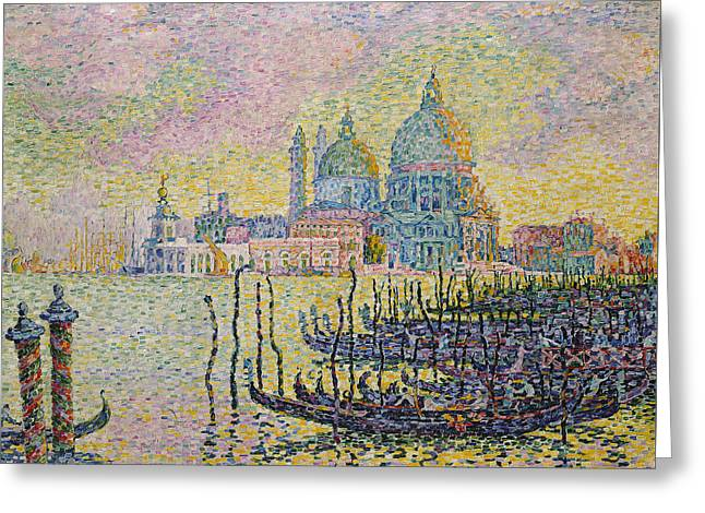 Grand Canal Greeting Card by Paul Signac