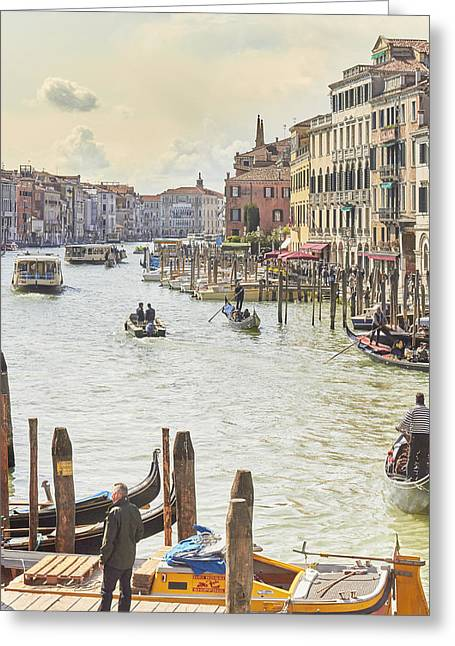 Grand Canal - The Most Famous Canal In Venice Greeting Card