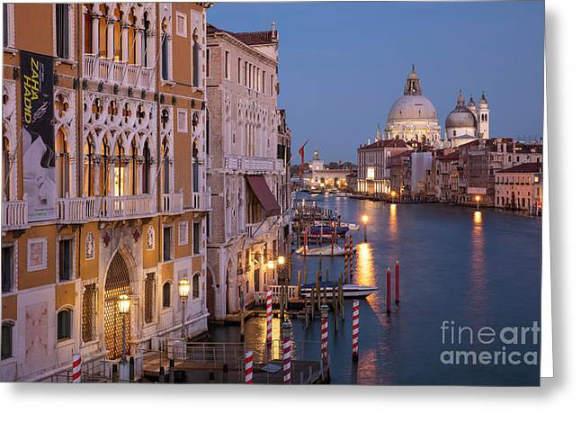Greeting Card featuring the photograph Grand Canal Twilight by Brian Jannsen