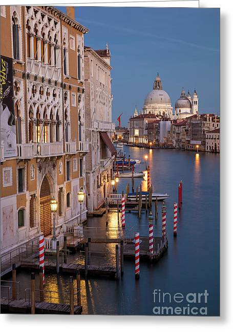 Greeting Card featuring the photograph Grand Canal Twilight II by Brian Jannsen