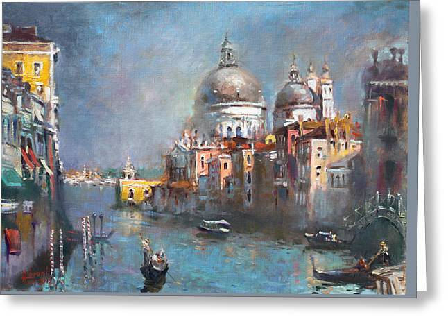 Grand Canal Venice 2 Greeting Card by Ylli Haruni