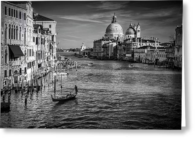 Grand Canal View Greeting Card by Andrew Soundarajan