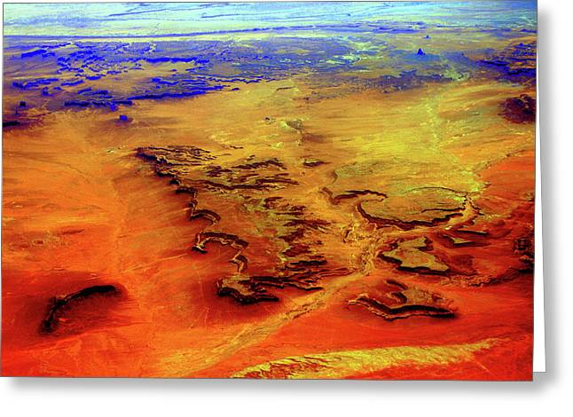Greeting Card featuring the photograph Grand Canyon 02 From 6mi Up by Irma BACKELANT GALLERIES