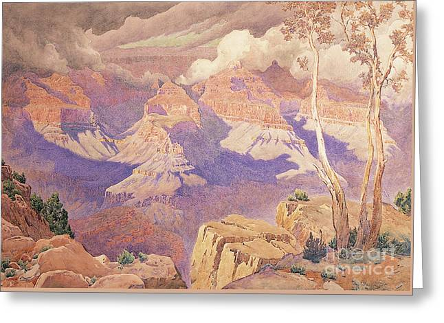 Grand Canyon, 1927  Greeting Card by Gunnar Widforss