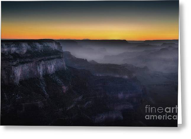 Grand Canyon At Twilight Greeting Card by RicardMN Photography