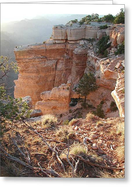 Greeting Card featuring the photograph Grand Canyon Bluff by Nancy Taylor