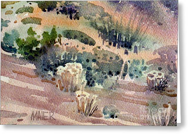 Grand Canyon Flora Study 77 Greeting Card by Donald Maier