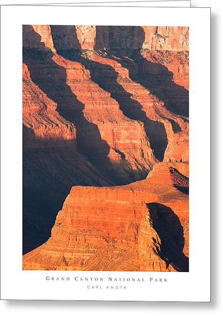 Grand Canyon Glow Greeting Card by Carl Amoth