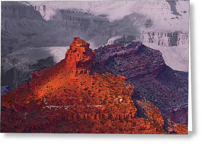 Grand Canyon In Red And Blue Greeting Card