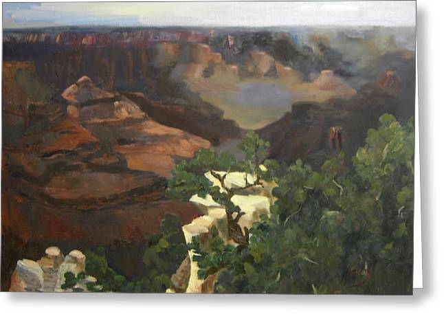 Grand Canyon Greeting Card by Marcy Silverstein