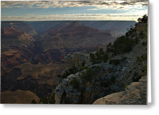 Greeting Card featuring the photograph Grand Canyon Monring by Stephen  Vecchiotti