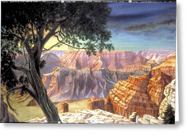 Grand Canyon Greeting Card by Nancy  Ethiel