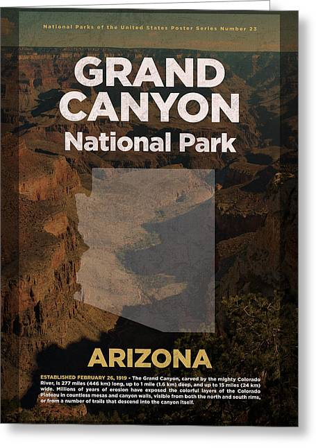 Grand Canyon National Park In Arizona Travel Poster Series Of National Parks Number 23 Greeting Card