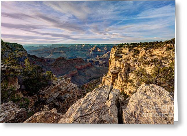 Grand Canyon National Park Spring Sunset Greeting Card