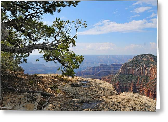 Grand Canyon North Rim Craggy Cliffs Greeting Card