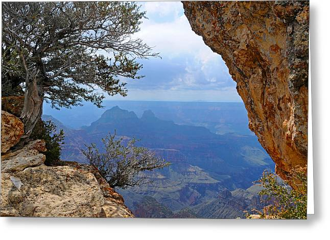 Grand Canyon North Rim Window In The Rock Greeting Card