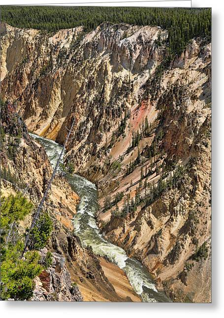 Grand Canyon Of The Yellowstone  Greeting Card