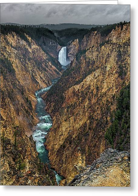 Grand Canyon Of The Yellowstone Greeting Card by Loree Johnson