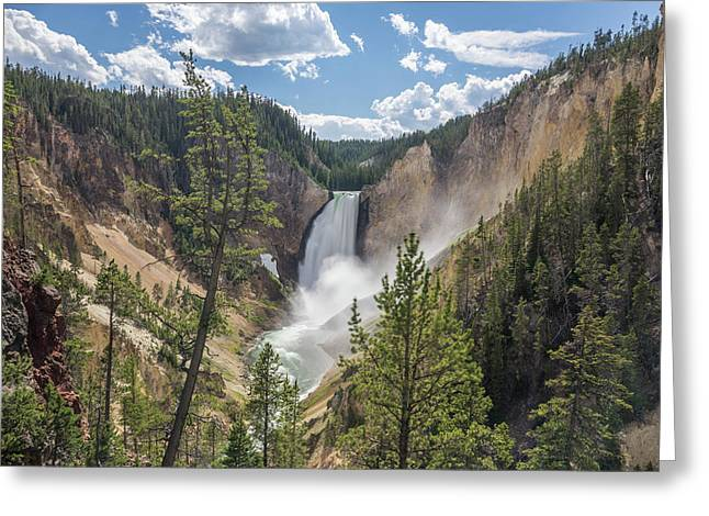 Grand Canyon Of Yellowstone Greeting Card by Alpha Wanderlust