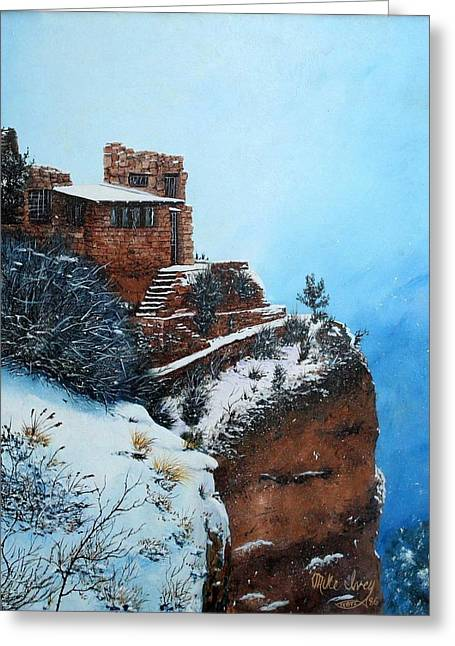 Mike Ivey Greeting Cards - Grand Canyon Overlook Greeting Card by Mike Ivey