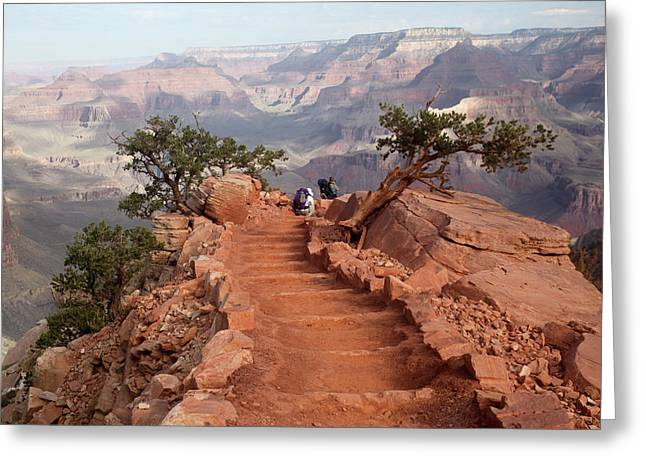Grand Canyon - South Kaibab Trail Greeting Card by Rich Sirko