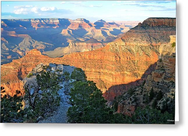 Grand Canyon South Rim At Sunset Greeting Card