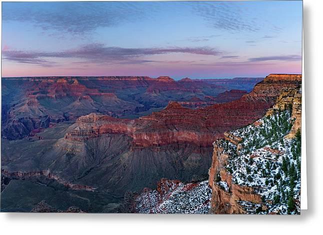 Grand Canyon - South Rim Twilight Greeting Card