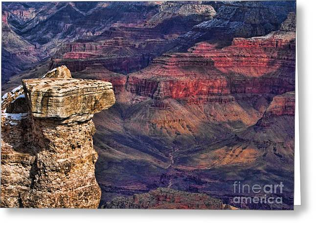 Greeting Card featuring the photograph Grand Canyon Stacked Rock by Roberta Byram