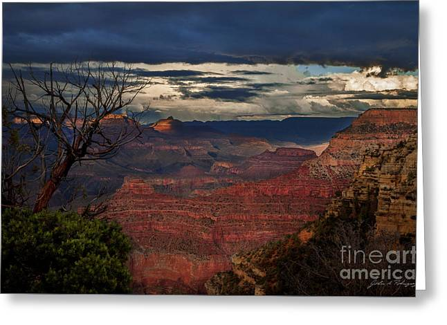 Grand Canyon Storm Clouds Greeting Card