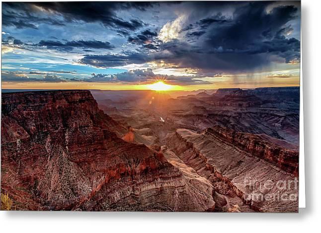 Grand Canyon Sunburst Greeting Card