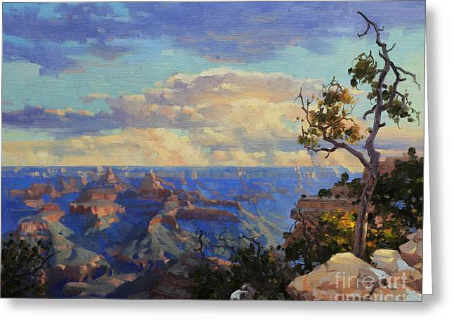 National Paintings Greeting Cards - Grand Canyon sunrise Greeting Card by Gary Kim