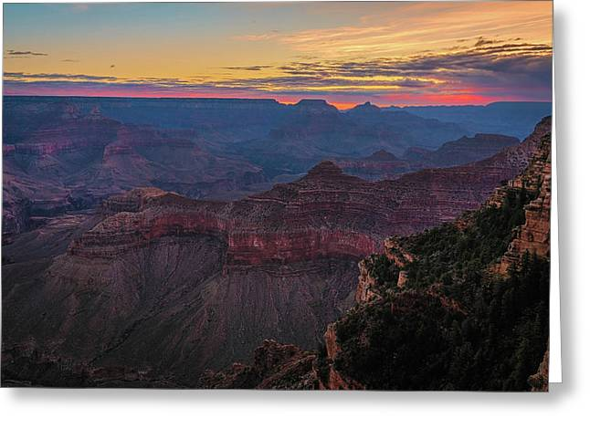 Greeting Card featuring the photograph Grand Canyon Sunrise by John Hight
