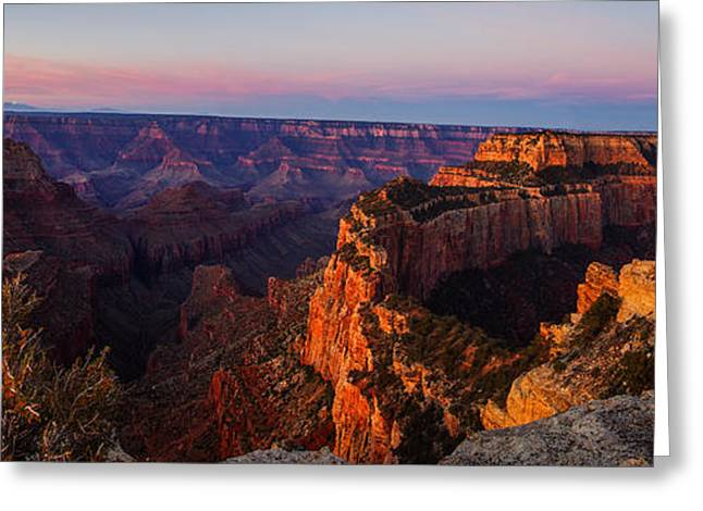 Grand Canyon Sunrise Panoramic Greeting Card
