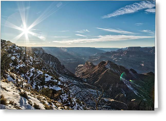 Grand Canyon Sunset Greeting Card by Frank Blanscet
