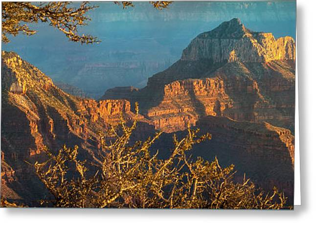 Grand Canyon Sunset Panorama Greeting Card