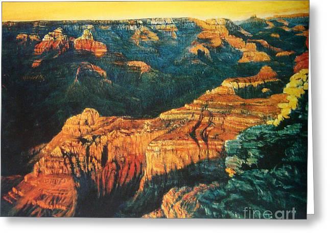 Grand Canyon Greeting Card by Tierong Fu