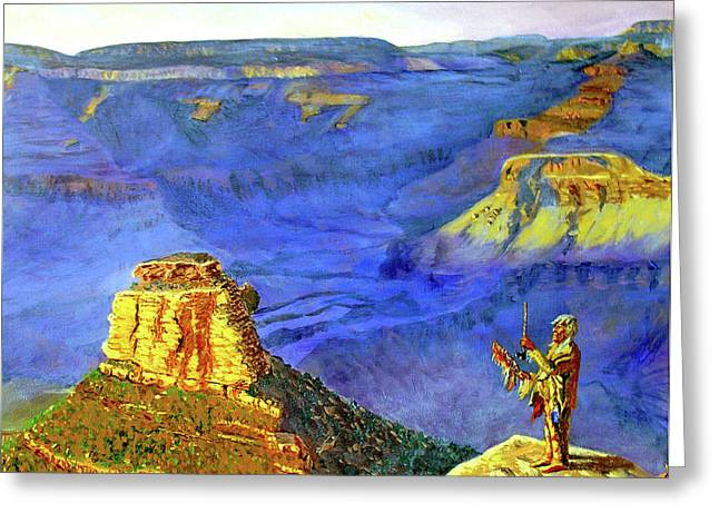 Grand Canyon V Greeting Card by Stan Hamilton