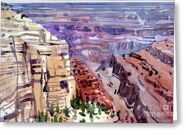 Grand Canyon View Greeting Card by Donald Maier