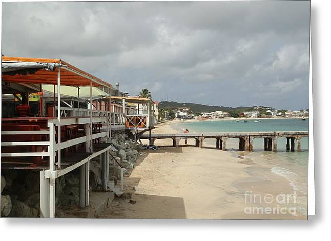 Grand Case Pier Greeting Card