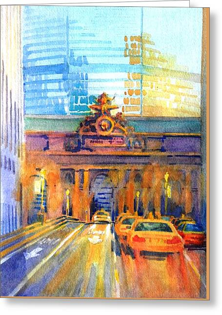 Grand Central Before Six, Driver Greeting Card by Virgil Carter