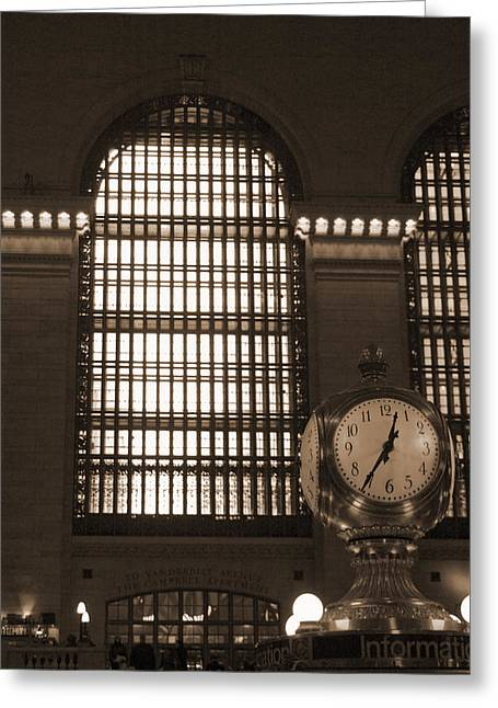 Grand Central Station Greeting Card by Henri Irizarri