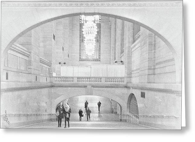 Greeting Card featuring the photograph Grand Central Station by Lora Lee Chapman