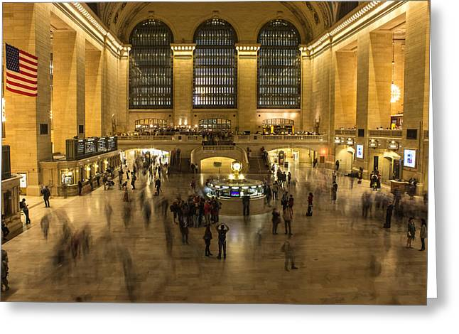 Grand Central Station Greeting Card by Martin Newman
