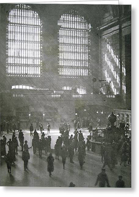 Grand Central Station, New York City, 1925 Greeting Card by American School