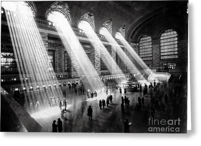 Grand Central Station New York City Greeting Card by Jon Neidert