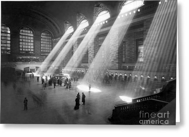 Grand Central Station Sunbeams Greeting Card by American School