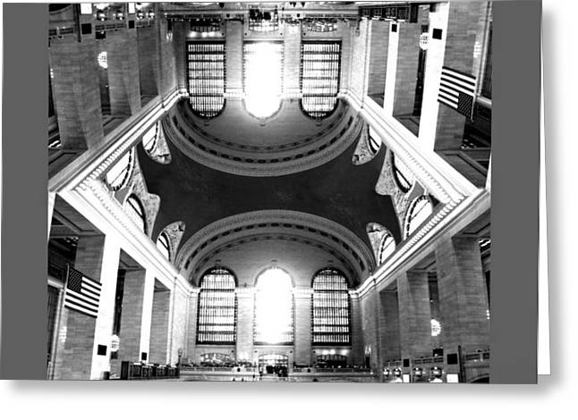 Greeting Card featuring the photograph Grand Central Terminal Mirrored by Diana Angstadt