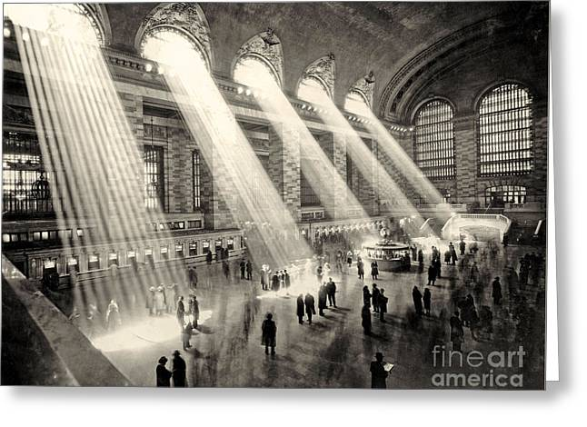 Grand Central Terminal, New York In The Thirties Greeting Card by American School