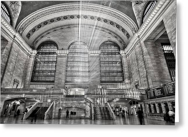 Railway Locomotive Greeting Cards - Grand Central Terminal Station Greeting Card by Susan Candelario